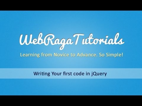 Writing your first code in jquery - jQuery Beginners Tutorial - Part 2