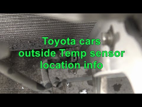 Toyota cars outside temp sensor location info
