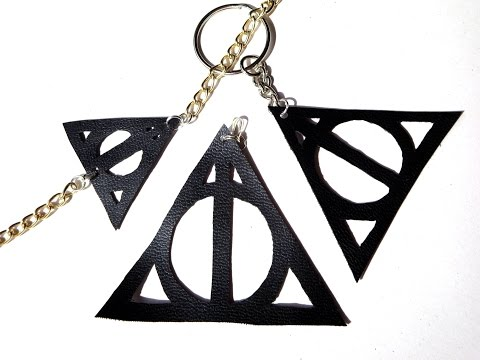 DIY deathly hallows leather pendant - Harry Potter tutorial