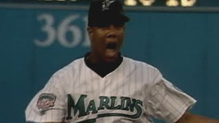 1997 NLCS Gm5: Livan notches 15th K, seals Game 5 win