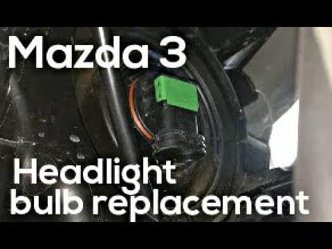 Headlight bulb replacement - Mazda 3 '17-'18