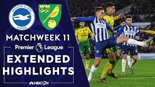 Brighton v. Norwich City | PREMIER LEAGUE HIGHLIGHTS | 11/02/19 | NBC Sports