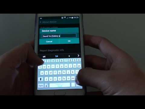 Samsung Galaxy S5: How to Change Device Name