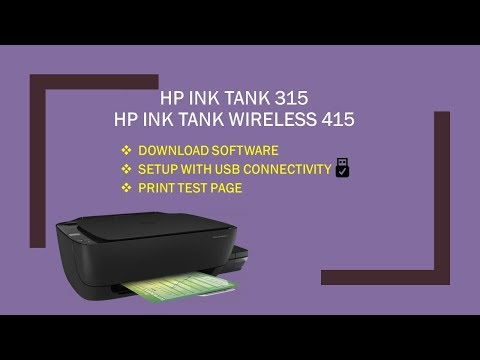 HP Ink Tank Wireless 415|419|418|310| 315|318 : Download,install software & connect USB Part 1