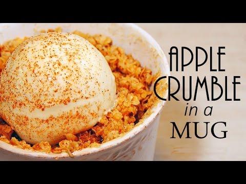 Mug Apple Crumble (Easy Recipe)  【簡単】アップルクランブルで温かく・・・