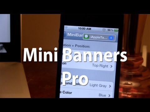 MiniBanners Pro - Change the Notification Banners of iOS with More Features