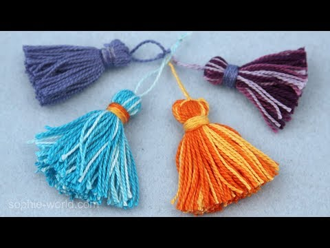How to Make a Tassel out of Craft Thread | Sophie's World