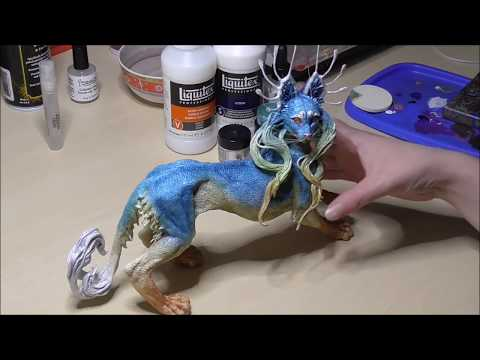 Painting a sculpture: Using pastels and mica powder to build up color