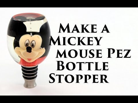 Make a Mickey Mouse (or any Pez) Bottle Stopper,  Resin casting project!