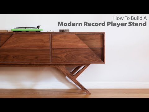 Building A Media Console Table - Woodworking