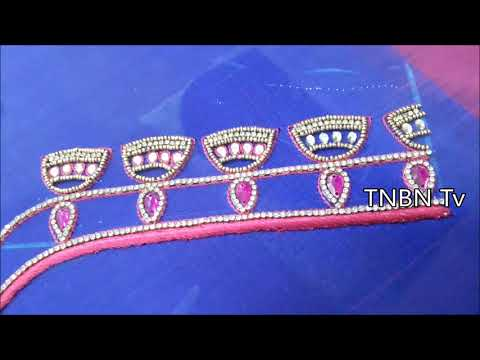 designer saree blouse designs | simple maggam work blouse designs | hand embroidery stitches flowers