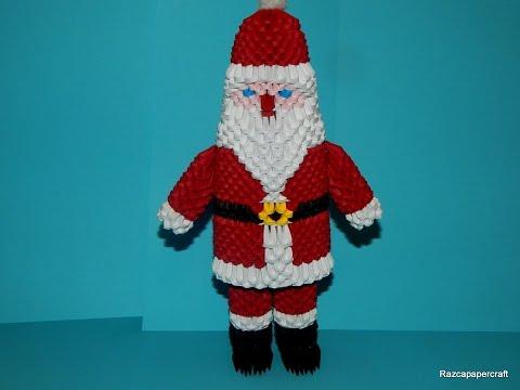 3D origami Santa Claus tutorial part 1