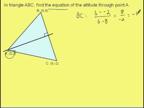 Find the Equation of an Altitude in Triangle