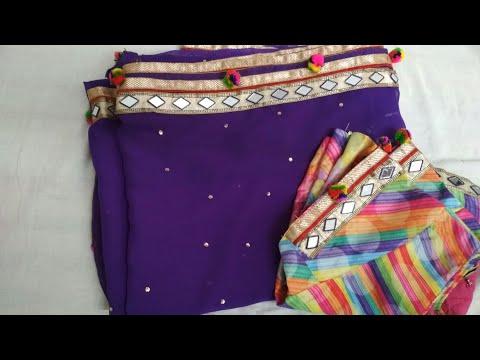how to make simple saree in to designer saree