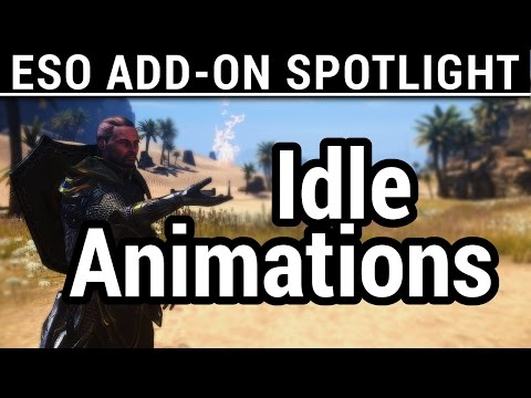 Elder Scrolls Online - Add-On Spotlight - Idle Animations