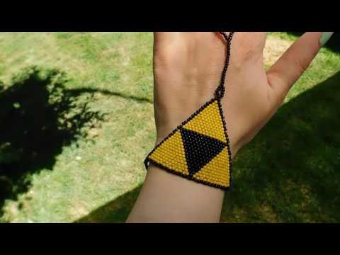 Beaded Triforce Slave Bracelet