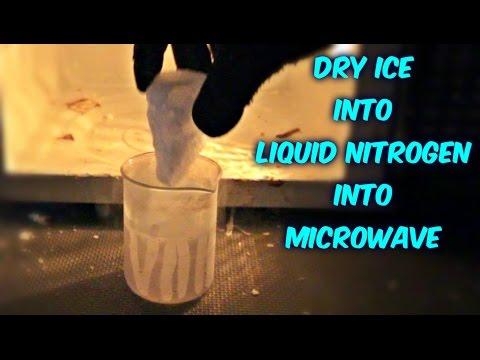 DRY ICE into LIQUID NITROGEN into MICROWAVE