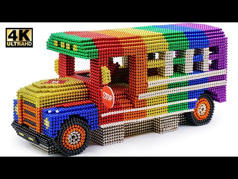 Xxx Mp4 How To Make School Bus From Magnetic Balls Satisfying And Relax Magnet World 4K 3gp Sex