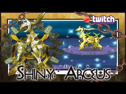 LIVE ON STREAM!! Shiny Arceus on Pokemon Diamond after 1702 SRs!!