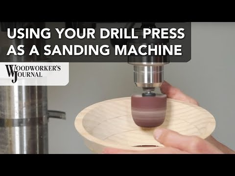 Using Your Drill Press as a Sanding Machine
