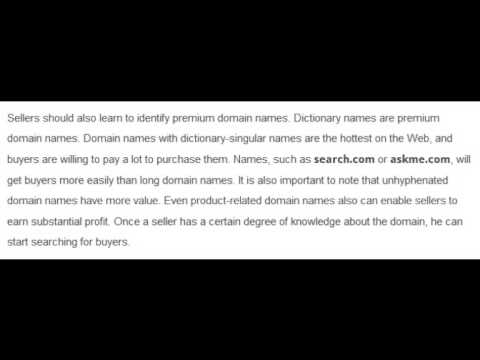 How to make money selling domain names