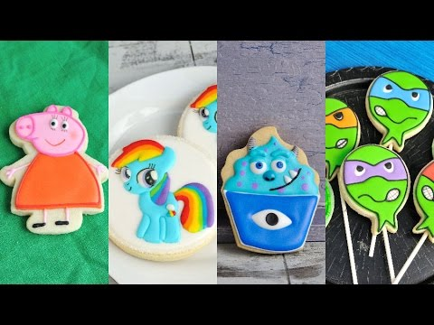 AMAZING DECORATED COOKIES, MY LITTLE PONY, PEPPA PIG, SULLY, NINJA from HANIELA'S