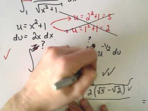 U-Substitution : When Do I Have to Change the Limits of Integration?