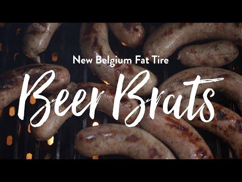 New Belgium Fat Tire Beer Brats