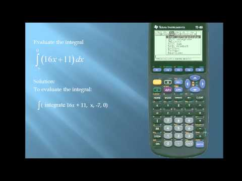 TI-89 - Integration