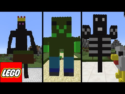 Minecraft Lego: MOBS DO JOGO (Creeper, EnderMan, Zombie, Wither) #1