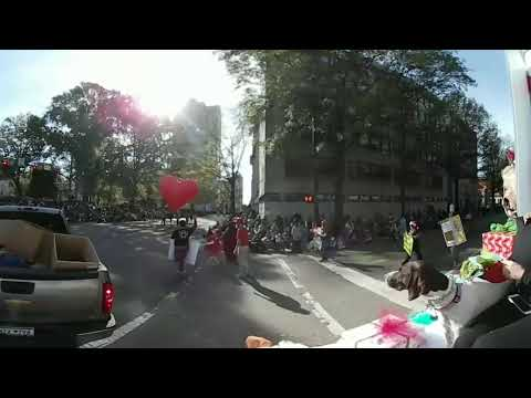 360 Video 2017 Raleigh Christmas Parade Shop Local Raleigh Float