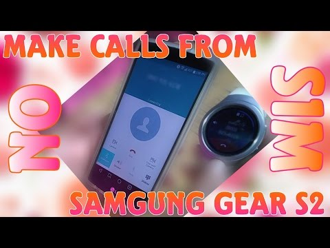 Make phone calls on the Gear S2 without phone service using Bluetooth.