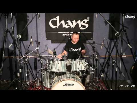 Chang Cymbals--New alloy ARMOR cheap cymbals sound video