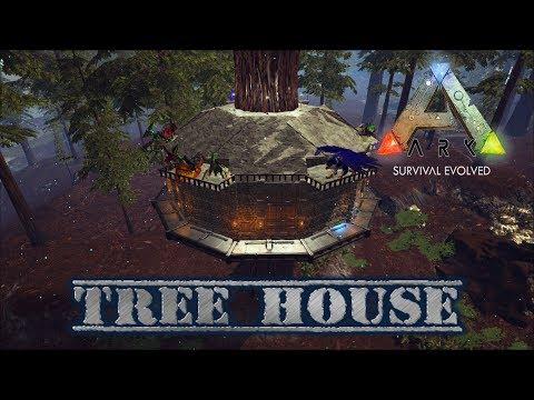 Ark Survival Evolved Tree House Build