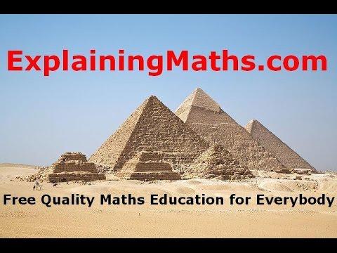 Finding the Area of a trapezium - Maths Help - ExplainingMaths,com IGCSE and GCSE Maths