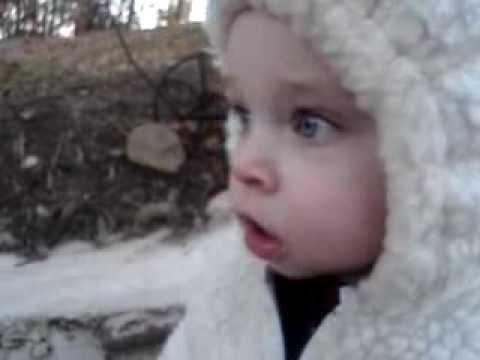 Rowan playing outside in fall