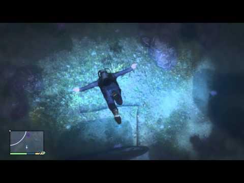 GTA V | Secret Location #1 | Underwater plane crash $12000 find!