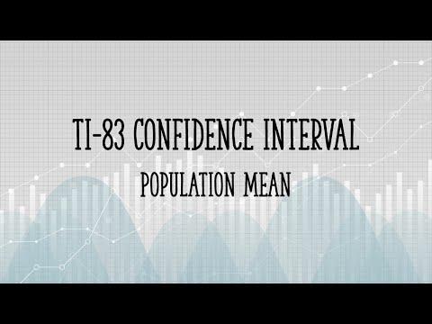 TI 83 Confidence Interval Population Mean