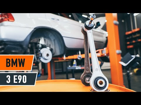 How to replace rear suspension front lower arm BMW 3 E90 TUTORIAL | AUTODOC
