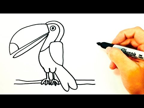 How to draw a Toucan for kids | Toucan Drawing Lesson Step by Step