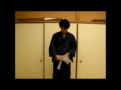 How to wear men yukata / Kaino kuchi