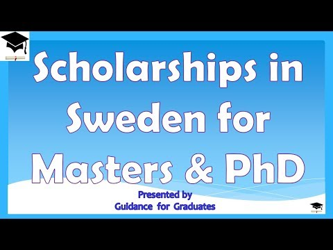Scholarships in Sweden for Masters and PhD, Study in Sweden, Study in Europe