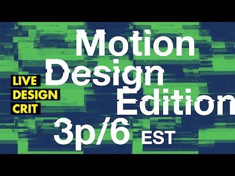 🔴 Motion Design Critique— FaceBook Live, Youtube Live