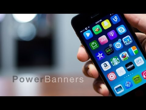 iOS 7 Cydia Tweaks - PowerBanners (Change Pop Ups To Banners)
