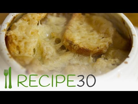 A smooth and creamier French onion soup