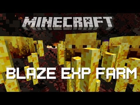 Minecraft (Xbox360) Redstone Tutorial - Blaze Exp Farm - No Sticky Pistons!