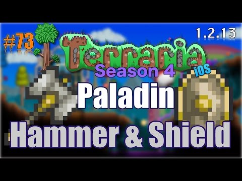 Let's Play Terraria (1.2.13) iOS- Paladin Hammer & Paladin Shield! Episode 73