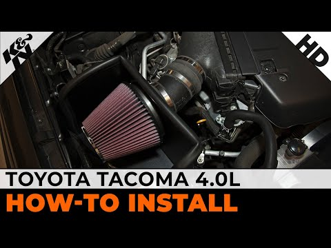 How To Install a K&N Air Intake on a 2005-2014 Toyota Tacoma 4.0L