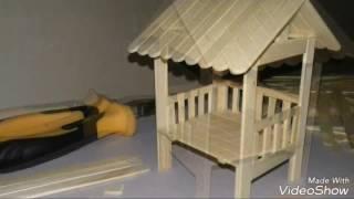 Tutorial Cara Membuat Miniatur Pos Ronda Dari Stik Es Krim