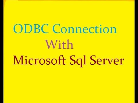 How To Create ODBC Connection For SQL Server in Informatica
